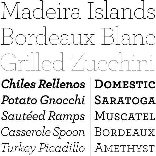 archer typeface sample