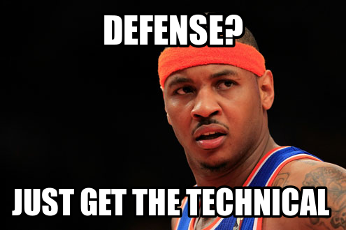 carmelo anthony defense