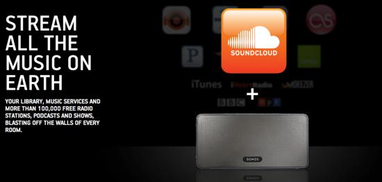 sonos and soundcloud